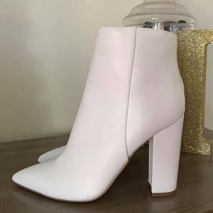 White Sock/Ankle Booties